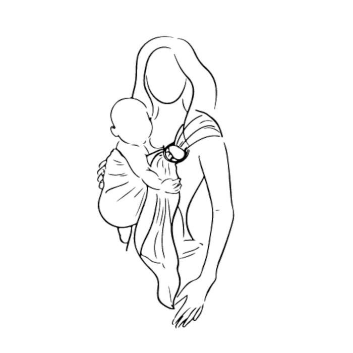 sling porte-bébé facile rapide débutant écharpe avec anneaux