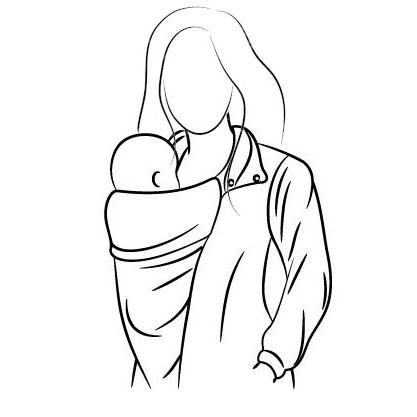 portage en hiver manteau veste couverture de portage pour garder le bébé au chaud